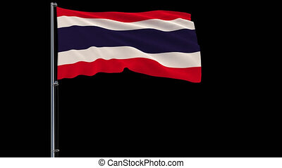 Isolate flag of Thailand, 4k prores 4444 footage with alpha transparency