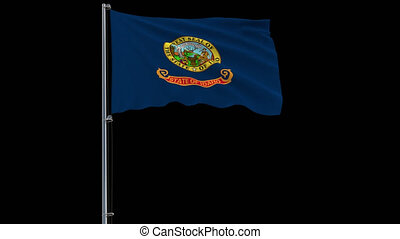 Isolate flag of United States Idaho 4k prores 4444 footage with alpha