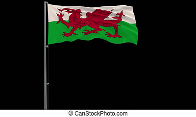 Isolate flag of Wales, 4k prores 4444 footage with alpha transparency