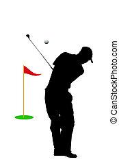 golf fairway - isolate golf fairway