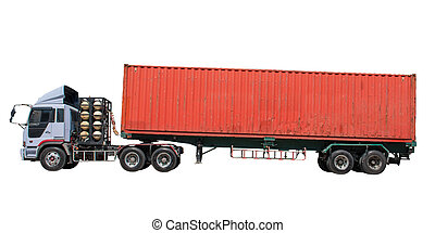 container on trailer truck