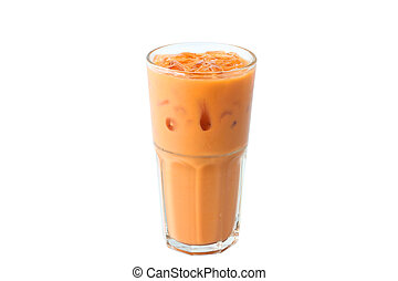 Isolate Thai Iced Tea on White