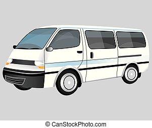 isolate van on white background vector design