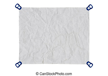 isolate white used paper on white background