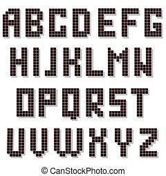 isolated., αλφάβητο , κολυμβύθρα , εικονοκύτταρο , ψηφιακός