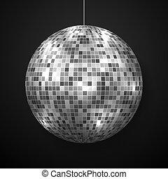 isolated., ボール, 鏡, ディスコ