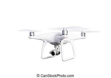 isolated., 射擊, 飛行, 雄峰, 工作室, 照像機。, 直升飛机