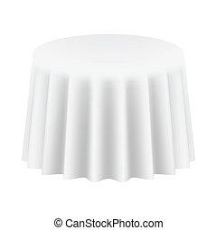 isolated., 描述, 矢量, cloth., 桌子, 绕行, 空
