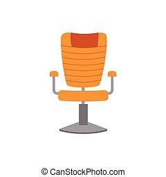 isolated., 旋回装置, オフィス, 快適である, イラスト, ベクトル, 平ら, なめし革ひじ掛いす