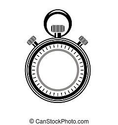 isolated., 腕時計, タイマー, 二番目に, logo., アイコン