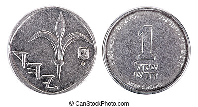Isolated 1 Shekel - Both Sides Frontal