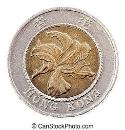 Isolated 10 Hong Kong Dollars - Heads Frontal