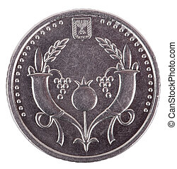 Isolated 2 Shekels - Heads Frontal