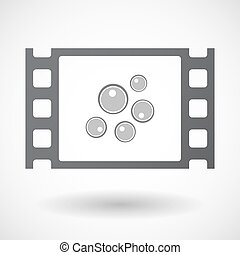 Isolated 35mm film frame with oocytes