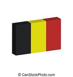 3D flag of Belgium