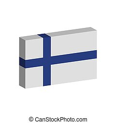 Isolated 3D flag of Finland - Vector illustration