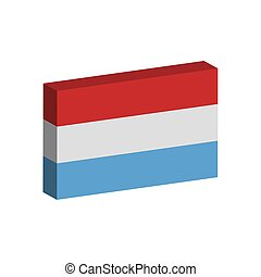 3D flag of Luxembourg