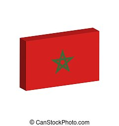 3D flag of Morocco