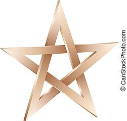 pentagram - isolated 3D pentagram sign