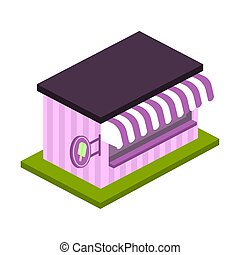 Isolated 3d popsicle store over a white background - Vector