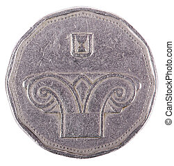 Isolated 5 Shekels - Heads Frontal