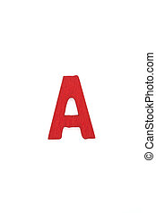 Isolated A capital letter