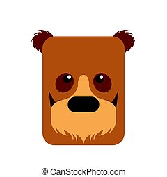 Isolated abstract bear