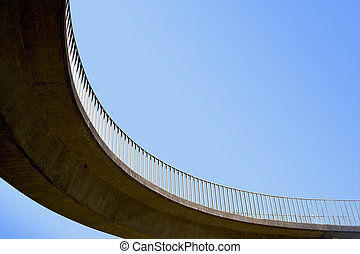 Isolated Abstract Closeup of Overhead Footbridge