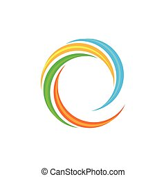 Isolated abstract colorful wave logo.