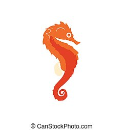 Isolated abstract seahorse