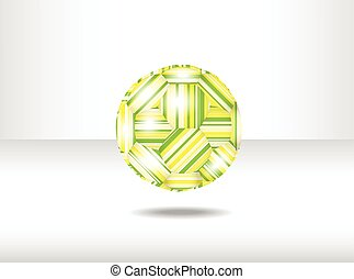 Isolated abstract soccer ball.