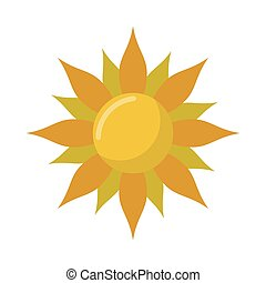 Isolated abstract sun design