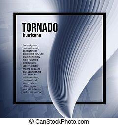 Isolated abstract tornado hurricane,natural disaster vector illustration