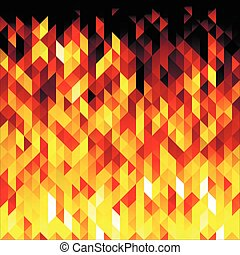 Isolated abstract yellow lowpoly vector background. Polygonal fire backdrop.