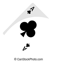 Isolated ace of clubs. Casino concept - Vector illustration