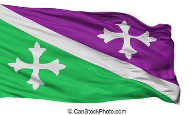 Isolated Adjuntas city flag, Puerto Rico - Adjuntas flag,...