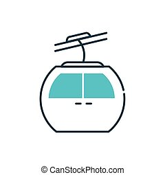Isolated aerial tramway vehicle vector design - Aerial ...