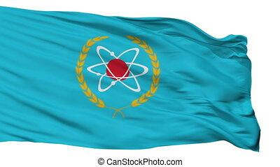 Isolated Agidel city flag, Russia - Agidel flag, city of...