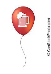 Isolated air balloon with a beer jar icon