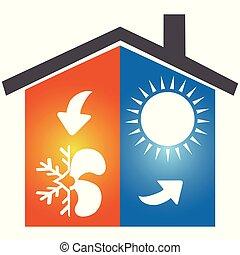 Air conditioning symbol icon logo