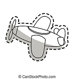 Isolated airplane toy design