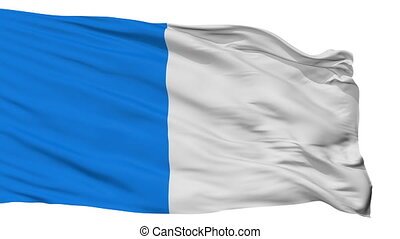 Isolated Ajaccio city flag, France - Ajaccio flag, city of...