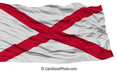 Isolated Alabama Flag, USA state