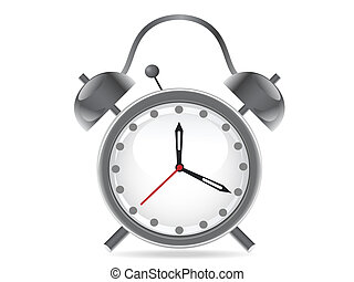 isolated alarm clock on white background