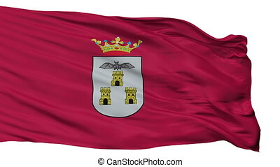 Isolated Albacete city flag, Spain - Albacete flag, city of...