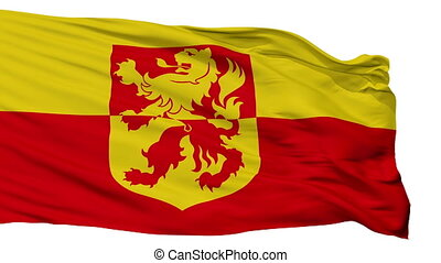 Isolated Alblasserdam city flag, Netherlands - Alblasserdam...