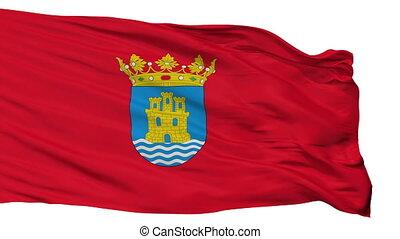 Isolated Alcala Henares city flag, Spain - Alcala Henares...