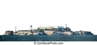 Isolated Alcatraz Island