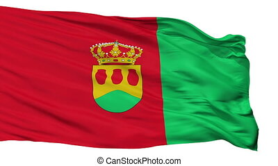 Isolated Alcorcon city flag, Spain - Alcorcon flag, city of...