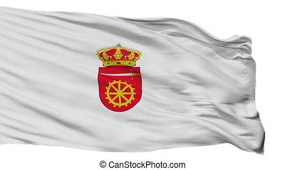 Isolated Alia city flag, Spain - Alia flag, city of Spain,...